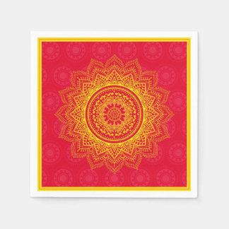 Indian ornament disposable napkins