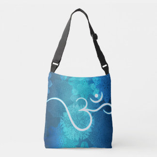 Indian ornament pattern with ohm symbol crossbody bag