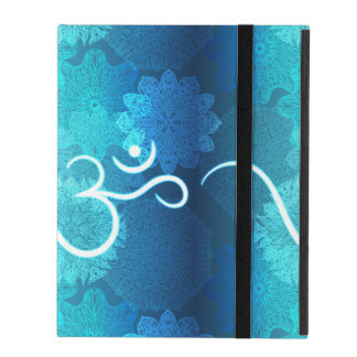 Indian ornament pattern with ohm symbol iPad folio case