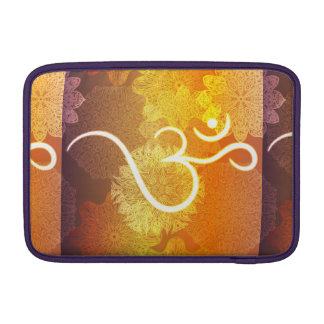 Indian ornament pattern with ohm symbol MacBook sleeve