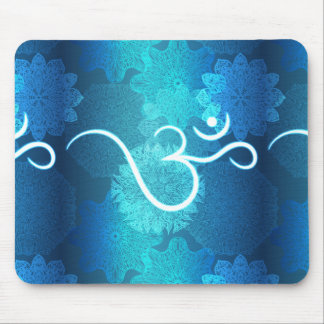 Indian ornament pattern with ohm symbol mouse pad