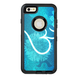 Indian ornament pattern with ohm symbol OtterBox defender iPhone case