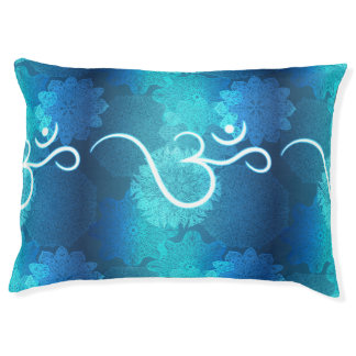 Indian ornament pattern with ohm symbol pet bed