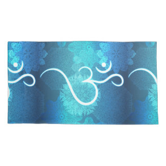 Indian ornament pattern with ohm symbol pillowcase