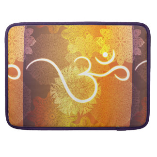Indian ornament pattern with ohm symbol sleeve for MacBooks