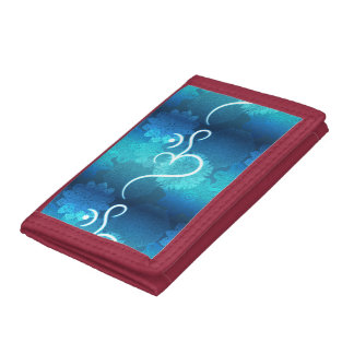 Indian ornament pattern with ohm symbol trifold wallets