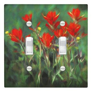 Indian Paintbrush Painting - Original Flower Art Light Switch Cover
