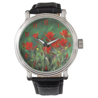 Indian Paintbrush Wristwatches