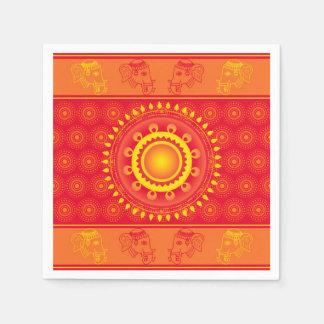 Indian pattern paper napkin