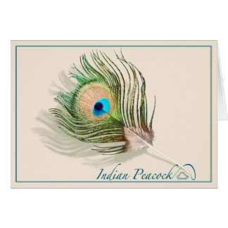 Indian Peacock - Card