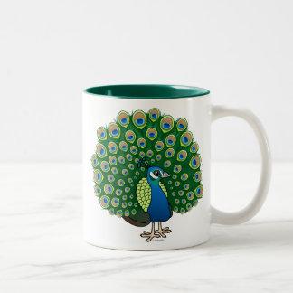 Indian Peafowl Two-Tone Coffee Mug