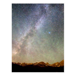 Indian Peaks Milky Way Postcard