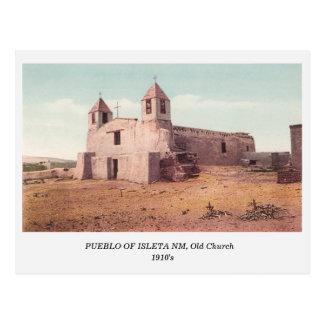Indian Pueblo of Isleta NM, Old Church postcard