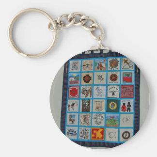 Indian Quilt Keychain