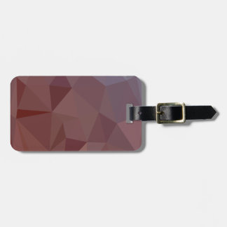 Indian Red Abstract Low Polygon Background Bag Tag