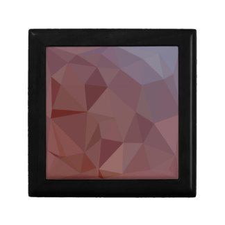 Indian Red Abstract Low Polygon Background Gift Box