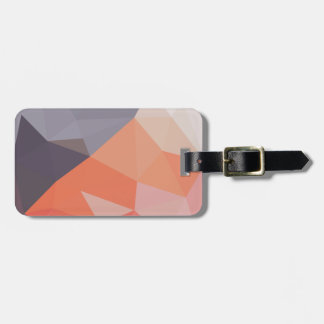 Indian Red Abstract Low Polygon Background Luggage Tag