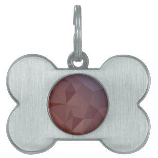 Indian Red Abstract Low Polygon Background Pet Name Tag