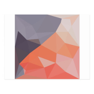 Indian Red Abstract Low Polygon Background Postcard