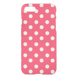 Indian Red Polka Dots Pattern iPhone 7 Case