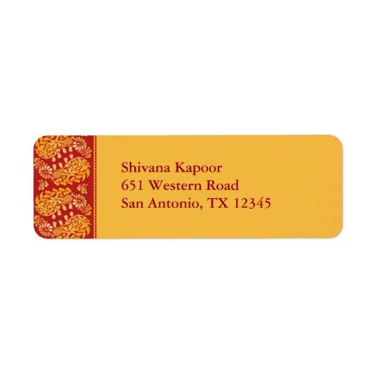 Indian Return Address Label