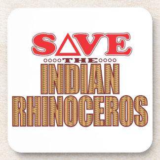 Indian Rhinoceros Save Drink Coasters