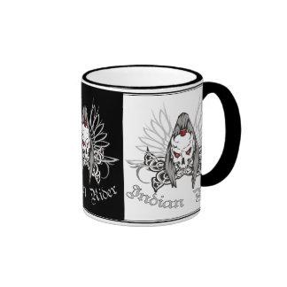 Indian Rider Ringer Coffee Mug