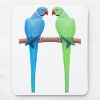 Indian Ringneck Parakeets Mousepad