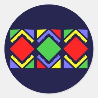 Indian sample native American pattern Round Sticker