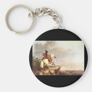 Indian Scout', Alfred Jacob_Art of America Basic Round Button Keychain