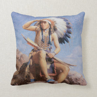 Indian Scout Native American MoJo Pillow