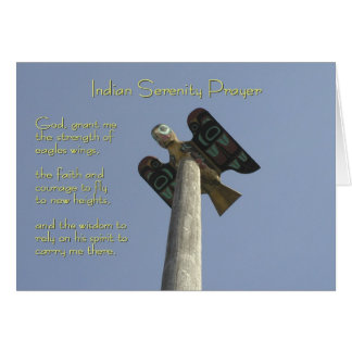 Indian Serenity Prayer Card