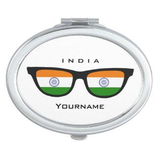 Indian Shades custom pocket mirror Vanity Mirrors