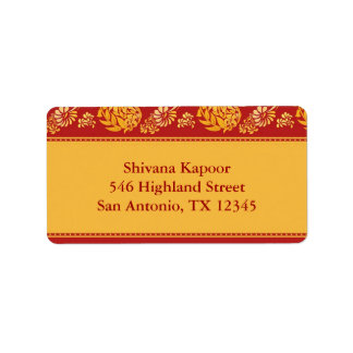 Indian Shipping Address Label