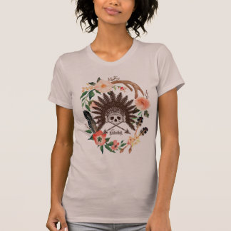 Indian Skull Flower T-Shirt