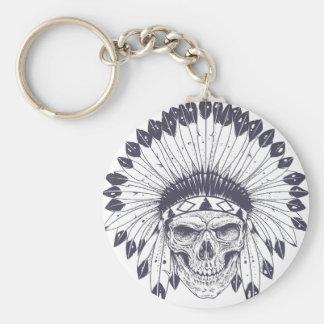 Indian Skull Keychain