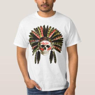 indian skull  ,skull with an Indian headdress T-Shirt