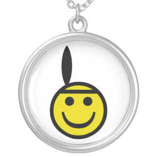 Indian Smiley Silver Plated Necklace