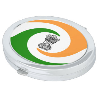 Indian spiral flag compact mirror