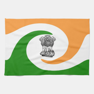 Indian spiral flag kitchen towel