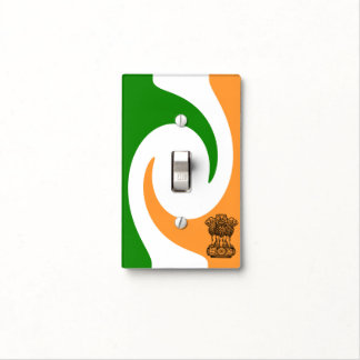 Indian spiral flag light switch cover