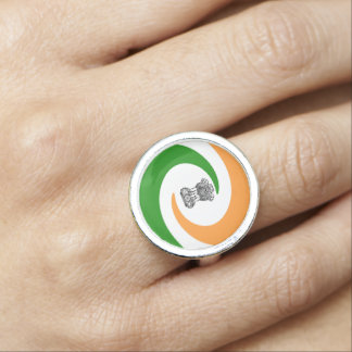 Indian spiral flag photo ring