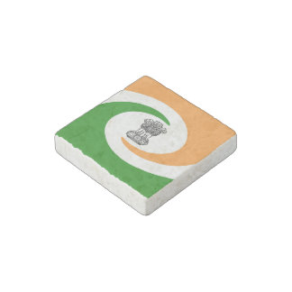 Indian spiral flag stone magnets