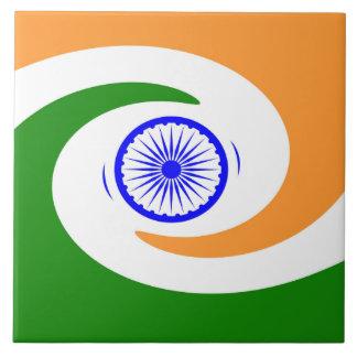 Indian spiral flag tile