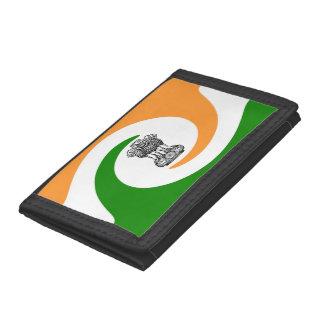 Indian spiral flag trifold wallet