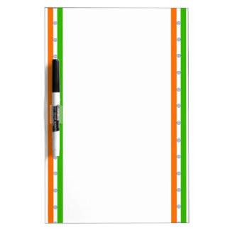 Indian stripes flag dry erase board