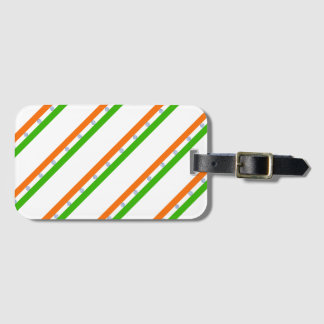 Indian stripes flag luggage tag
