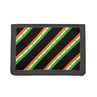 Indian stripes flag tri-fold wallet