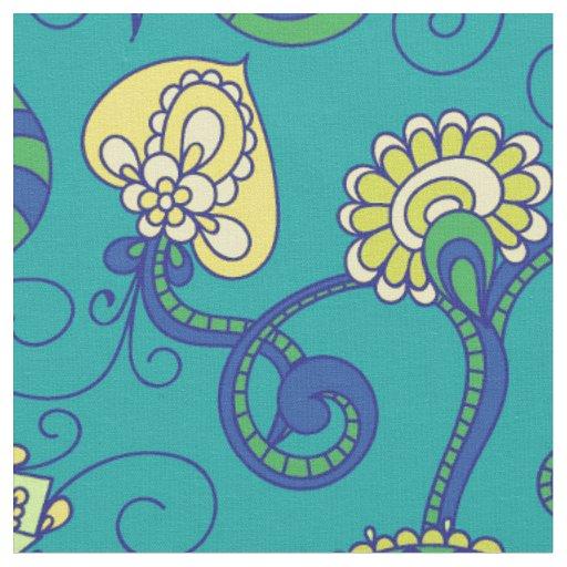 Indian style, boho chic, blue pattern fabric