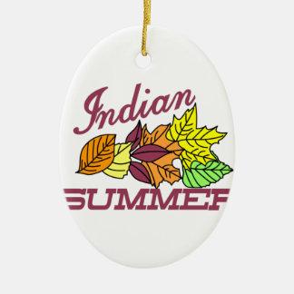 Indian Summer Ceramic Ornament